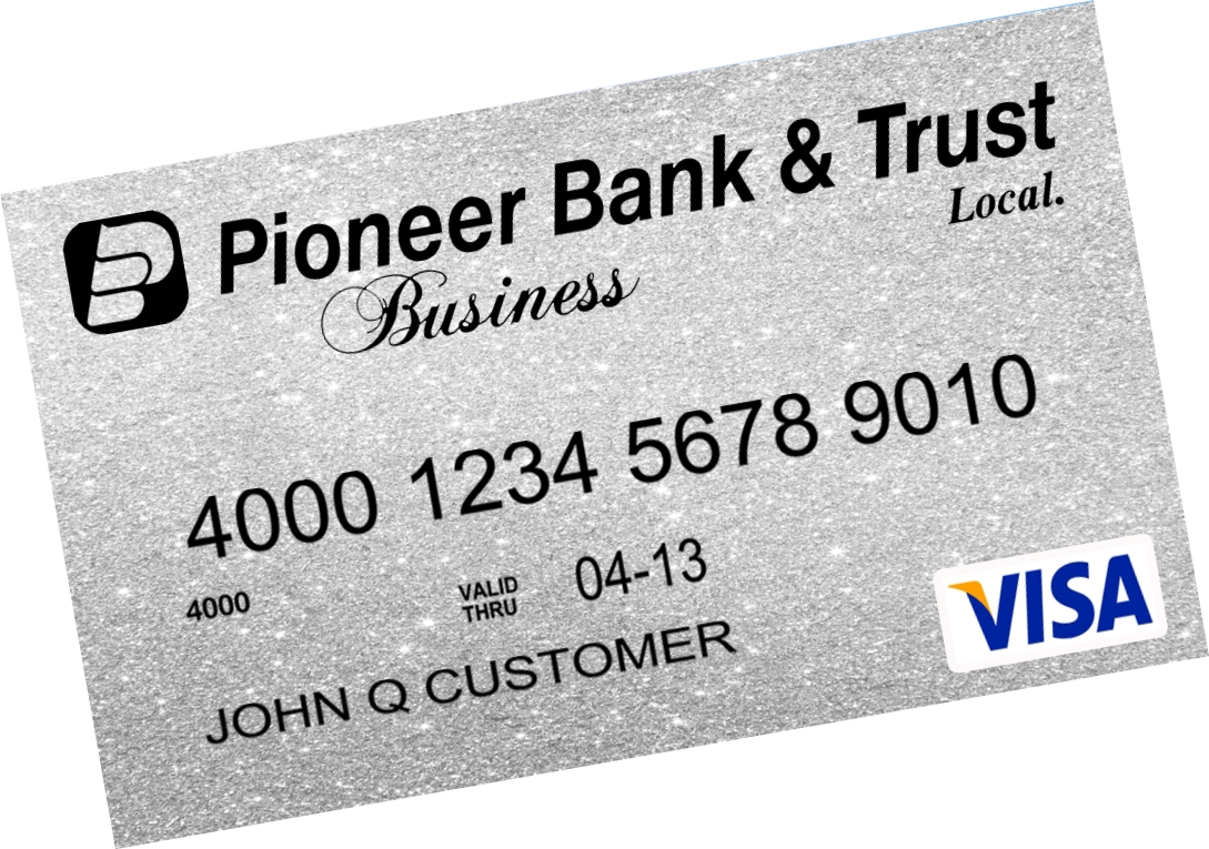Visa business checking card.